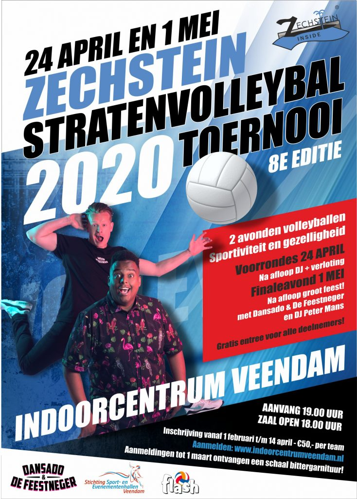 Zechstein Stratenvolleybal Toernooi 2020 – 24 april & 1 mei