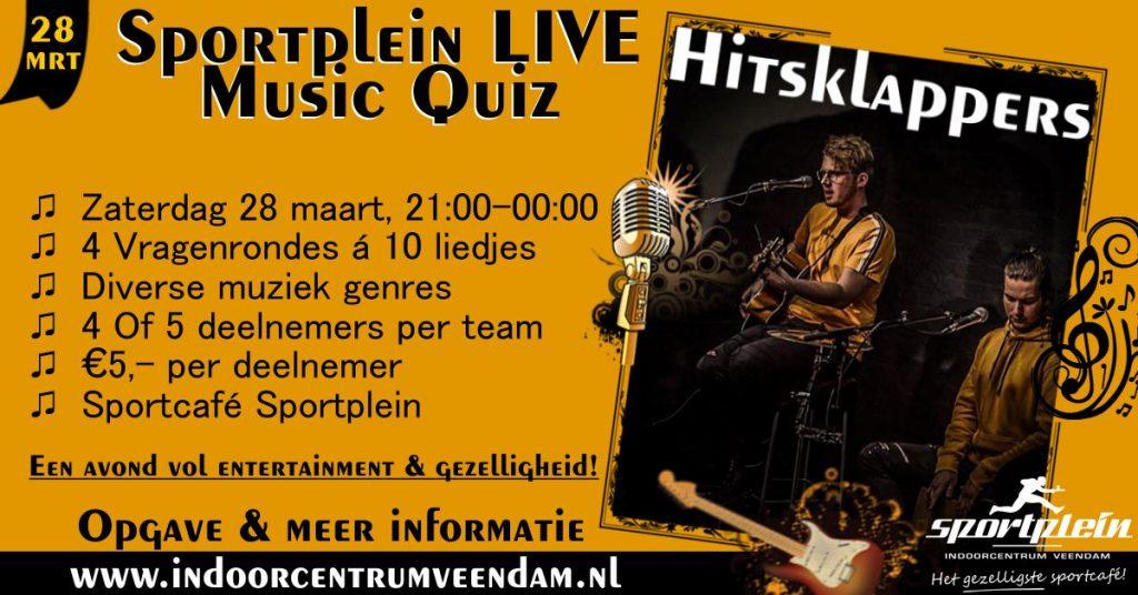 Sportplein Live Music Quiz 28 maart